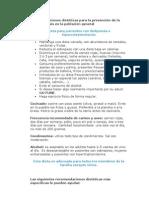 Recomendaciones dietéticas para la prevención de la aterosclerosis en la población general