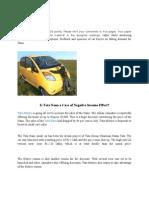 M Eco Assignment 2 - Tata Nano
