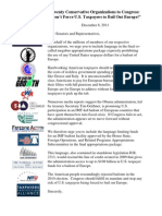 12-8-11 Coalition Letter - Oppose U.S.-funded Euro Bailout