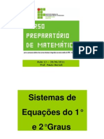 Mat UTFRS 13. Sistemas de Equacoes