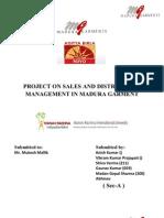 44041664 s Dm Project on Madura Garment