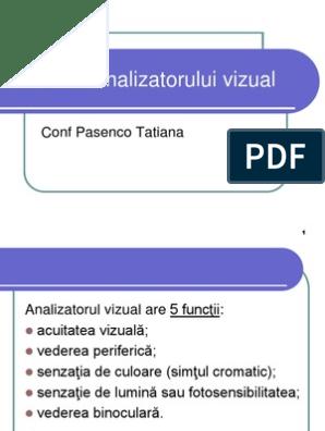 Funcțiile vizuale ale vederii