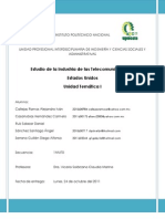 Evidencias Actividad 1 Unidad Tematica I. Entorno Tecnologico Rial y Financiero de La Industria de Telecomunicaciones (Estados Unidos)