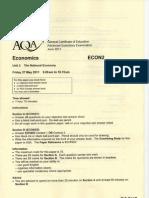 Aqa-econ2-W-qp-jun11 Economics Unit 2 June 11