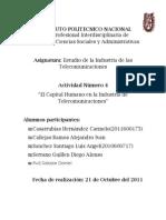 Evidencias Actividad 4 Unidad Tematica 4. El Capital Humano en La Industria de Telecomunicaciones (Mexico)
