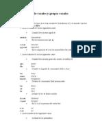 Pronunciación de vocales y grupos vocales