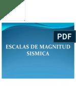 Escalas de Magnitud Sismica
