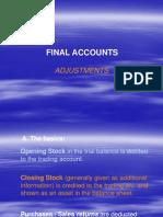 Final Accounts- Adjustments- Students