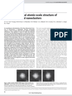 3-D Atomic Scale Structure of Size Selected Au Nano Clusters