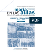 Sindicatos y Trabajadores 1973-1983. (Saraví - Salvatori)