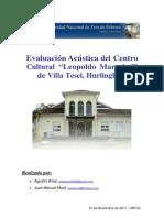 Evaluación Acústica del Centro Cultural Leopoldo Marechal