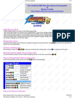 King of Fighters 98 Codes