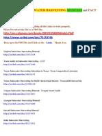 Links to Free Rain Water Harvesting Manuals