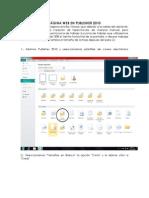 PÁGINA WEB EN PUBLISHER 2010