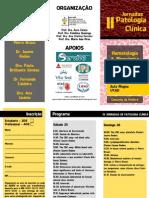 Flyer II Jornadas de Patologia Clínica