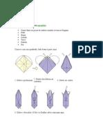 Curso de origami (construindo peças de xadrez)