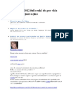 AutoCAD 2012 full serial de por vida instalación paso a pas