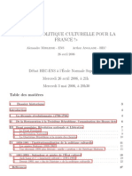 The Economics of France's Cultural Policy - HEC-EnS Research Paper