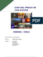 """Estimacion Precio de una accion """"ENDESA"""""""