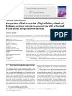 Comparison of Fuel Economies of High Efficiency Diesel and Hydrogen