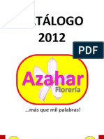 CATÁLOGO FLORERÍA AZAHAR 2012