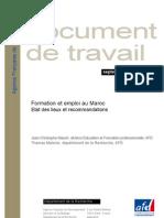 AFD_Formation Et Emploi Au Maroc