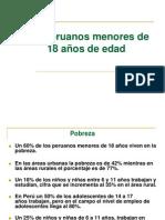 Los peruanos menores de 18 años de edad