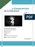 Causas y Consecuencias  de la Depresión en la colonia Santa Rosa