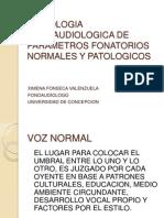 Semiologia Fono Audio Logic A de Para Metros Fonatorios Normales y Patologicos