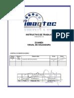 I-IMAQTEC-02 Examen Visual de Soldaduras (SGC)