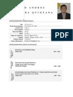 David Saavedra Curriculum