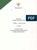 Permen PU No 15 Tahun 2010 Tentang Petunjuk Teknis DAK Bidang Infrastruktur