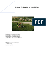 An Economic Cost Evaluation of Landfill Gas[1]