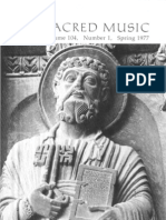 Sacred Music, 104.1, Spring 1977; The Journal of the Church Music Association of America