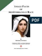 Female Faces of Mediterranean Race