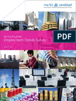 Employment Trends Survey-- MaFoi Consultancy 2011