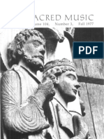 Sacred Music, 104.3, Fall  1977; The Journal of the Church Music Association of America