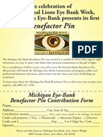 Pin Flyer International Eye Bank Week