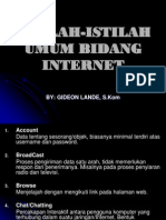 Istilah-Istilah Umum Bidang Internet