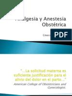 Analgesia y Anestesia Obstétrica