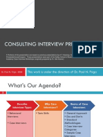 ConsultingInterviewPreparationDr.PaulFriga