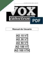 Manual Vox AD-15-30-50-100VT