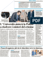 L'Università aiuterà la polizia a risolvere i misteri del crimine - Il Resto del Carlino del 7 dicembre 2011