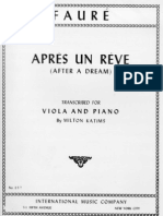 Faure - Apres Un Reve (Transcr for Viola o Cello & Piano)