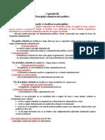 Capitolul III - Principiile Administratiei Publice