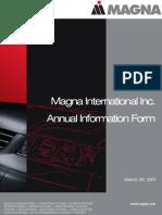 Magna Annual Report 2011