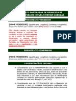 Instrumento Particular de Promessa de Compra e Venda de Imóveis e Demais Avenças - com dação em pagamento