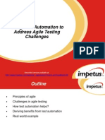 Using Test Automation to Address Agile Testing Challenges- Impetus Webinar