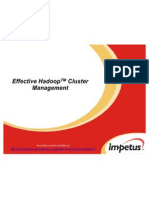Effective Hadoop Cluster Management- Impetus Webinar