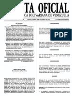 Gaceta Oficial Extra or Din Aria 6058 Ministerio Del PP de as